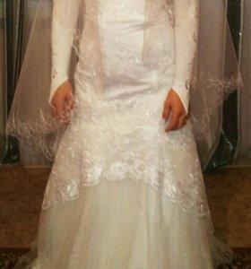 Свадебное платье, туфли, шубка, перчатки и многое