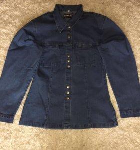 Женская джинсовая рубашка
