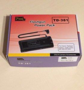 Батарейный блок Pixel TD-381 для Canon 580 Ex II