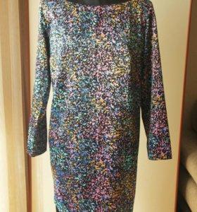 Шелковое легкое платье 46 р, новое