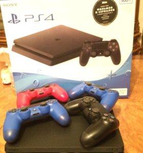 PS4 500Gig с 4 джойстиками