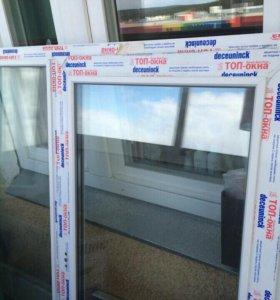 Окно и пластиковая дверь