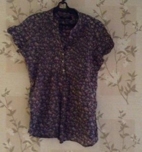 Блузка легкая под джинсы р 46-48