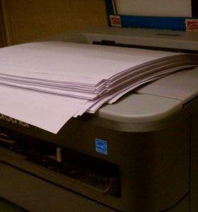 Печать листов А4