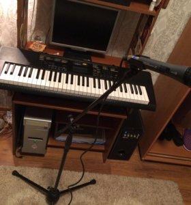 Синтезатор микрофон и стойка