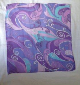 Шейный платок полупрозрачный 48х45