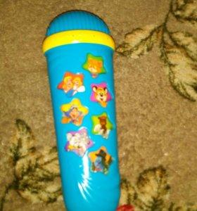 Микрофон детский с песнями