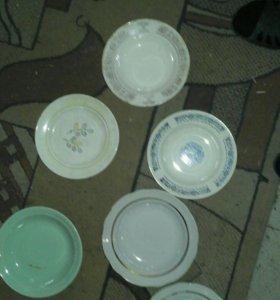 Хрусталь стекло и тарелки