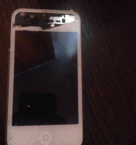 Продам рабочий iPhone 4 на запчасти или под ремонт