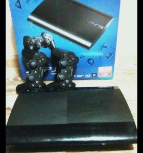 Sony Playstation 3 500gb 2 геймпада