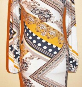 Трикотажное стильное платье 48-50р