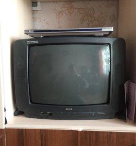 Телевизор AKAI, dvd SVEN