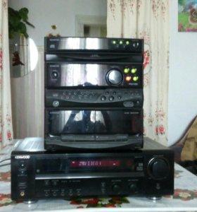 Центр  колонки s90 радиотехника видео камера