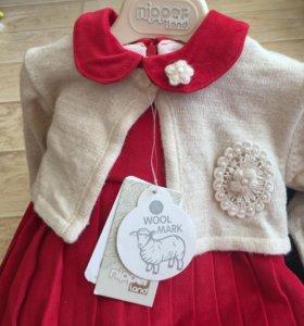 Фирменное новое Платье+балерошка+штанишки