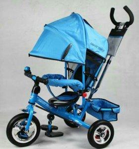 Новые. Трехкол велосипед Смарт Трайк голубой надув