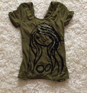 Новая женская футболка с открытой спиной