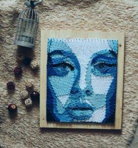 Картина/Панно в стиле String Art