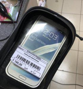 Велосумка телефон карманы , крепёж к раме