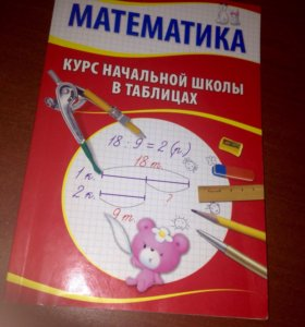 Математика-курс с начальной школы в таблицах.