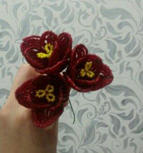 Цветы из бисера. Сувениры. Подарки.