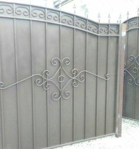 Ворота ограждения..столы лавки. ворота от тридцати