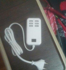 USB зарядное для 6 устройств