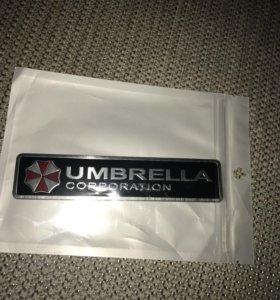Наклейка на авто umbrella corp.