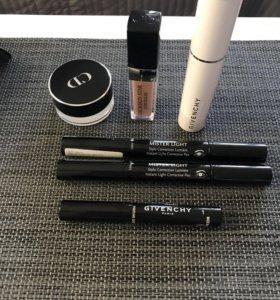 Тени, консилер, карандаш Dior, Givenchy