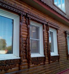Отбеливание древесины. Красим дома крыши.