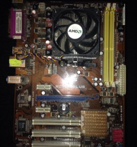 Материнская плата + процессор + кулер