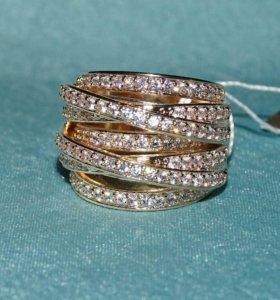 Бижутерия Комплект:серьги и кольцо 17 размер