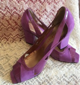 Туфли женские натуральные. Бренд. Чёрные в подарок