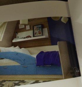 Новая детская кровать ( в упаковке) Дельфин