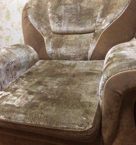 Комплект 2 кресла + большой диван
