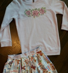 Новая юбка из ацетатного шелка 42
