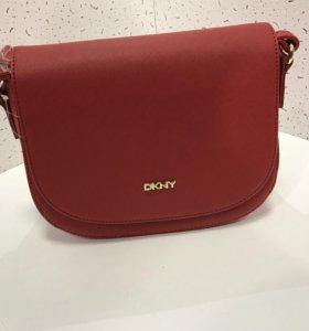 DKNY, сафьяновая кожа сумка женская, клатч