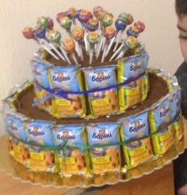 Цветы, букеты, торты из конфет