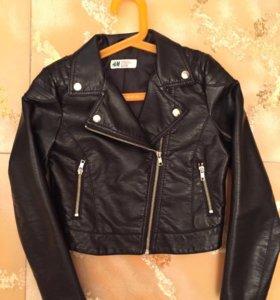 Куртка H&M из искусственной кожи,на девочку.