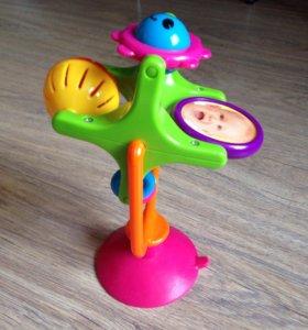 Игрушка погремушка на присоске