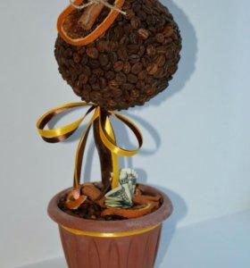 Кофейный мини топиарий