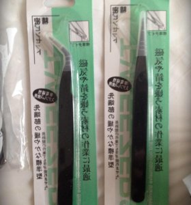 Пинцеты для наращивания ресниц 2 шт