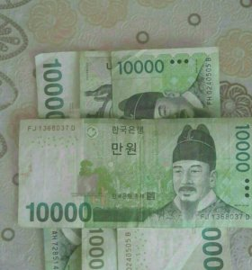 Южно-корейские воны 40000KRW