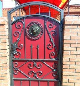 Кованные ворота, калитки, заборы