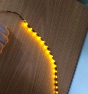 Подсветка под фары силиконовая, защищена от влаги.