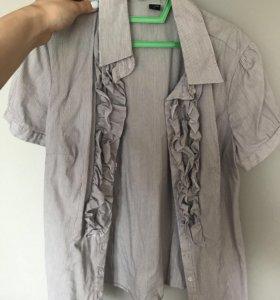 Рубашка с рюшами