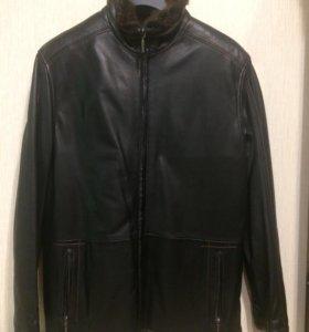 Новая кожаная куртка Latini на меху (Италия)