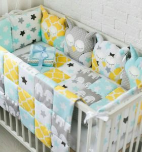 Комплекты в кроватку, бортики, белье, одеяло