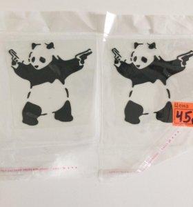 Наклейка панда