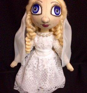 """Кукла текстильная """"Невеста"""". Для свадьбы."""