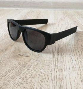 Очки солнцезащитные складные браслет, новые